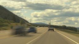 HD2009-6-26-22 long drive hwy 97 TL Stock Video Footage