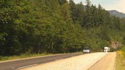HD2009-6-27-6 TN truck on mountain highway Stock Video Footage