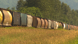 HD2009-6-27-8 freight train Stock Video Footage