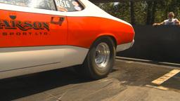 HD2009-6-27-18 motorsports, drag racing burnout Stock Video Footage