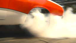 HD2009-6-27-18 motorsports, drag racing burnout Stock Video Footage