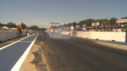 HD2009-6-27-22 motorsports, drag racing altered burnout Stock Video Footage