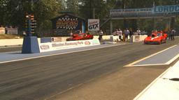 HD2009-6-27-34 motorsports, drag racing promod corvette... Stock Video Footage