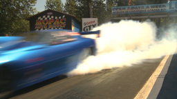 HD2009-6-27-42 motorsports, drag racing promod burnouts Stock Video Footage