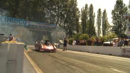 HD2009-6-27-42 motorsports, drag racing promod burnouts Stock Video Footage