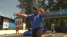 HD2009-6-27-44 motorsports, drag racing promod burnout Stock Video Footage