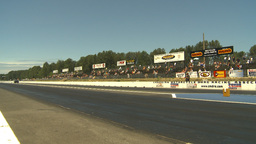 HD2009-6-27-48 motorsports, drag racing doorslammer launch Stock Video Footage