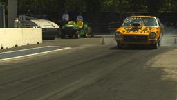 HD2009-6-27-60 motorsports, drag racing doorslammer vega... Stock Video Footage