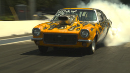 HD2009-6-27-60 motorsports, drag racing doorslammer vega... Stock Video Footage