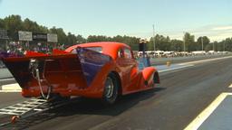 HD2009-6-27-62 motorsports, drag racing doorslammer launch Stock Video Footage