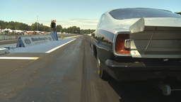 HD2009-6-27-66 motorsports, drag racing doorslammer launch Stock Video Footage