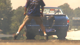 HD2009-6-27-74 motorsports, drag racing el camino launch Stock Video Footage