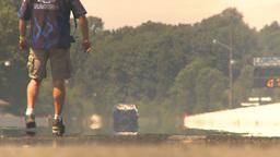 HD2009-6-27-74 motorsports, drag racing el camino launch Stock Video Footage
