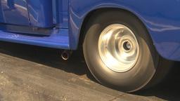 HD2009-6-27-76 motorsports, drag racing pickup burnout Stock Video Footage