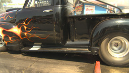 HD2009-6-27-78 motorsports, drag racing pickup burnout Stock Video Footage