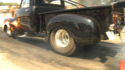 HD2009-6-27-78 motorsports, drag racing pickup burnout Stock Video Footage