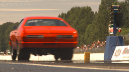 HD2009-6-27-80 motorsports, drag racing dodge launch Stock Video Footage