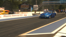HD2009-6-27-84 motorsports, drag racing doorslammer launch Stock Video Footage