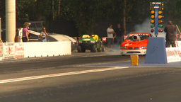HD2009-6-28-19 Motorsports, drag racing, mid track pro stock burnout Footage