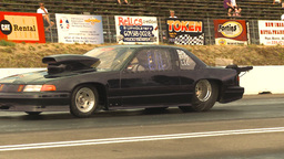 HD2009-6-28-23 Motorsports, drag racing, mid track doorslammer run Footage