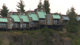 HD2009-6-29-2b Whistler condos and road Z Stock Video Footage