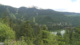HD2009-6-29-4 Whistler Blackcomb and lake Stock Video Footage
