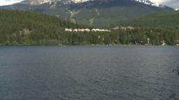 HD2009-6-29-8 Whistler Blackcomb ski hill lake tilt up Stock Video Footage