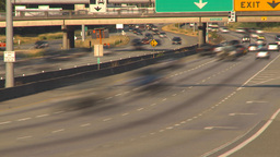 HD2009-6-29-22 vancouver freeway TL Stock Video Footage