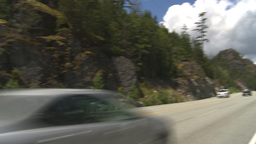 HD2009-6-30-9 Sea to sky highway pan Stock Video Footage