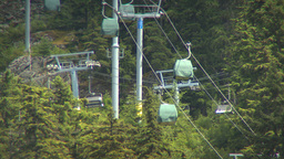 HD2009-6-30-15 whistler blackcomb hill ski lifts 2shot Footage