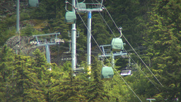 HD2009-6-30-15 whistler blackcomb hill ski lifts 2shot Stock Video Footage