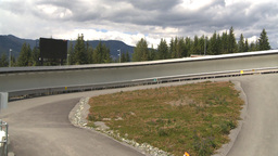 HD2009-6-30-17 whistler bobsled track Stock Video Footage