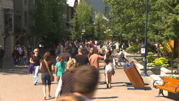 HD2009-6-30-19 whistler village montage Stock Video Footage