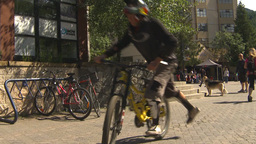 HD2009-6-30-21 whistler village mountainbike montage Footage