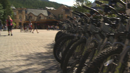 HD2009-6-30-21 whistler village mountainbike montage Stock Video Footage