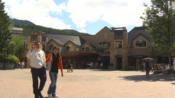 HD2009-6-30-23 whistler village town square montage Stock Video Footage