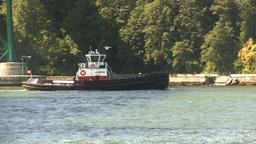 HD2009-6-31-11 tug boat follow Stock Video Footage