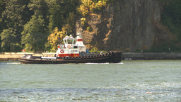 HD2009-6-31-11 tug boat follow Stock Video Footage