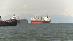 HD2009-6-31-13 tug boat cargo ships Footage