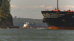 HD2009-6-31-17 cargo ship zoom back Footage