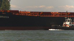 HD2009-6-31-17 cargo ship zoom back Stock Video Footage