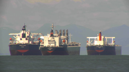 HD2009-6-31-19 cargo ships LLL TL Stock Video Footage