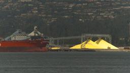 HD2009-6-31-25 cargo ship sulfer industrial Footage