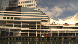 HD2009-6-31-27 Canada place and cruise ship Stock Video Footage