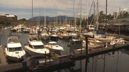 HD2009-6-31-35 Granville island marina Stock Video Footage