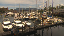 HD2009-6-31-35 Granville island marina Footage