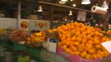 HD2009-6-31-37 Granville Island Market Fruits And Veggies 3 Shot stock footage
