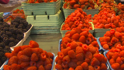 HD2009-6-31-37 Granville island market fruits and veggies... Stock Video Footage