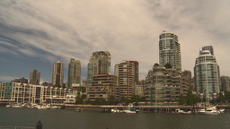 HD2009-6-31-43 Granville island condosand yachts 3 shot Stock Video Footage