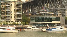 HD2009-6-31-43 Granville island condosand yachts 3 shot Stock Video Footage